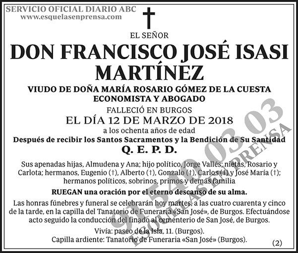 Francisco José Isasi Martínez